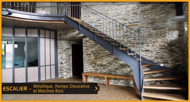 Escaliers ouest serrurerie for Escalier metallique interieur